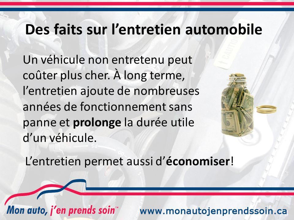 Des faits sur l'entretien automobile