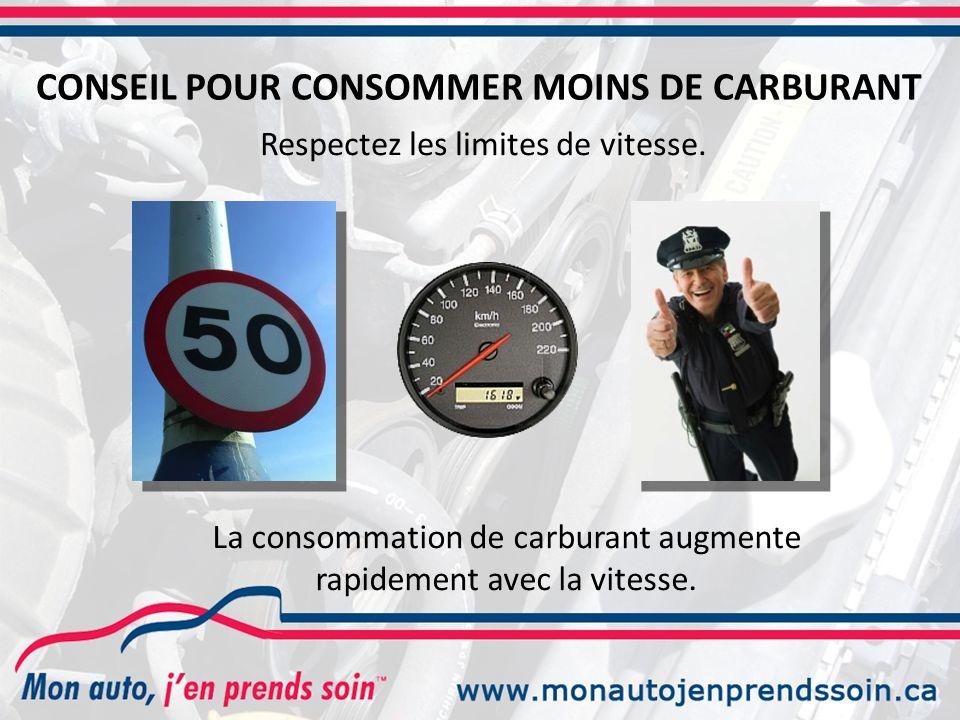 CONSEIL POUR CONSOMMER MOINS DE CARBURANT