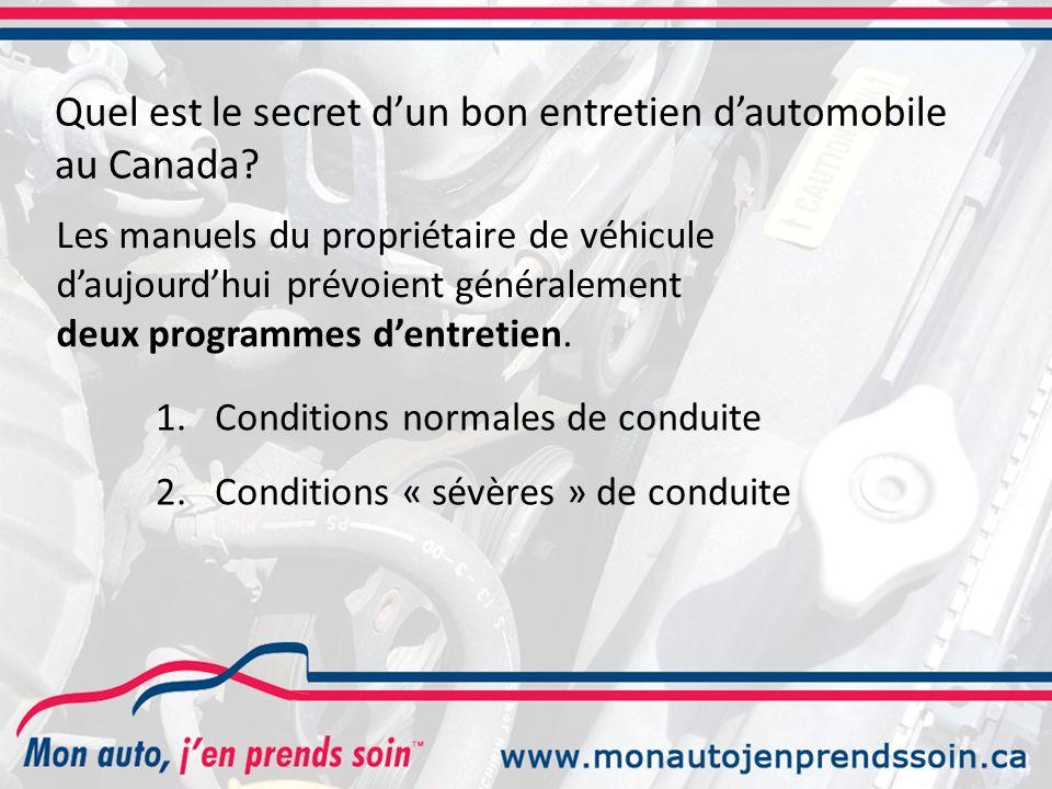 Quel est le secret d'un bon entretien d'automobile au Canada