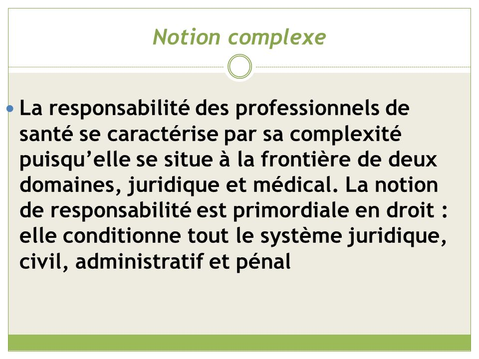 Notion complexe