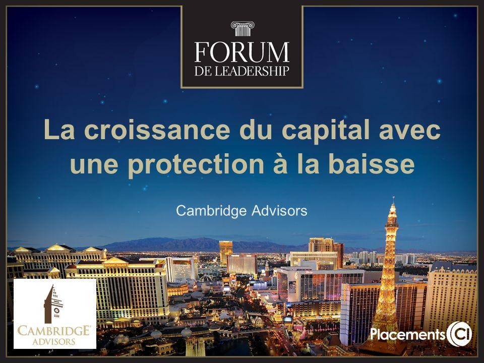 La croissance du capital avec une protection à la baisse