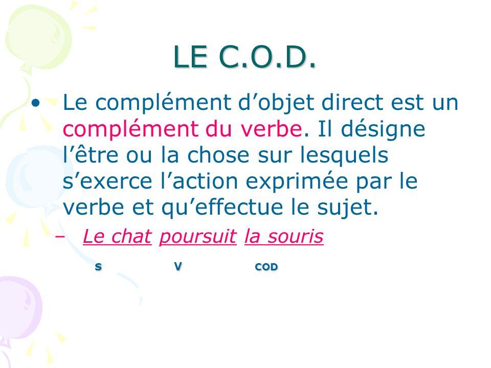 LE C.O.D.