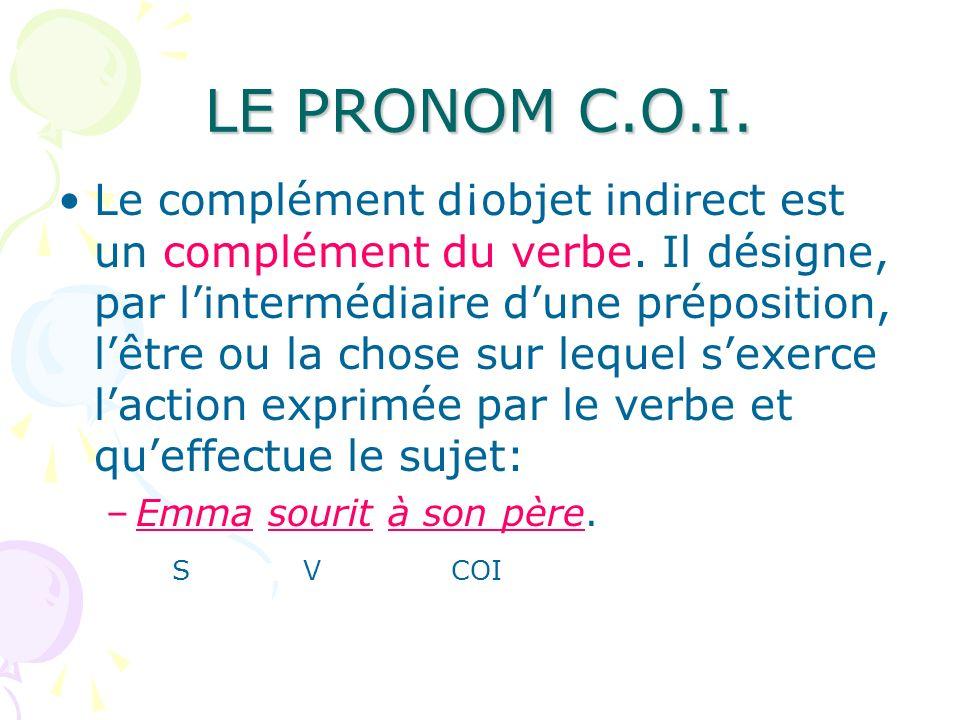 LE PRONOM C.O.I.