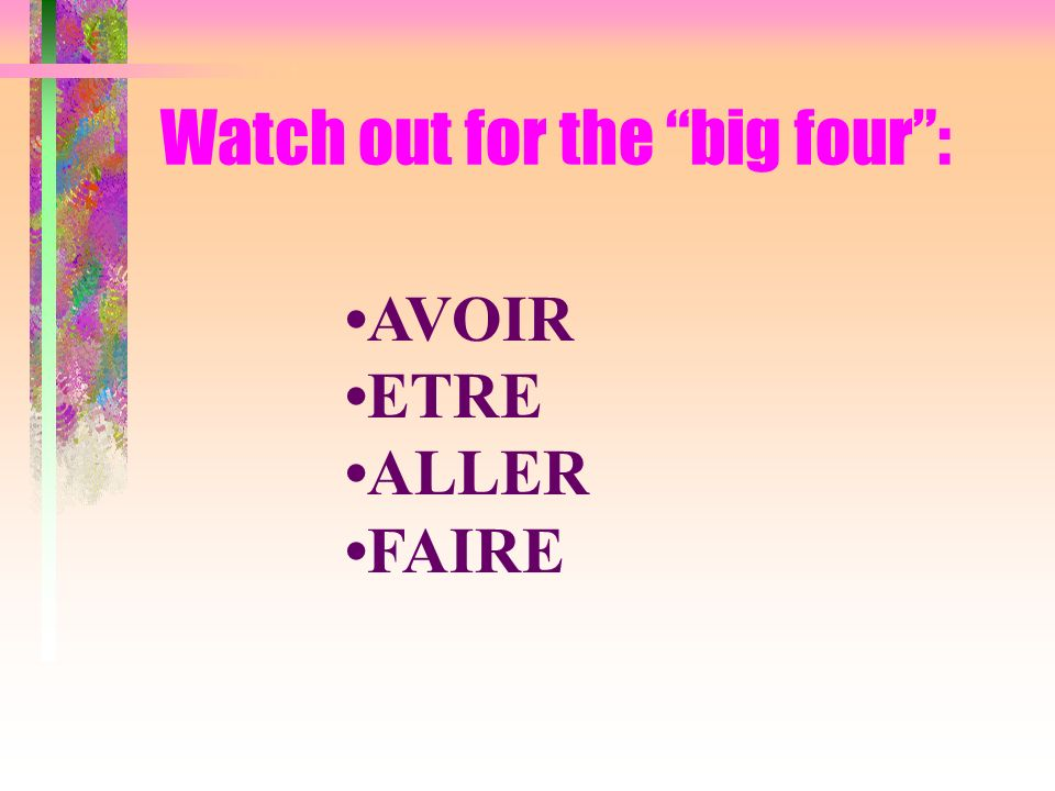 Watch out for the big four :
