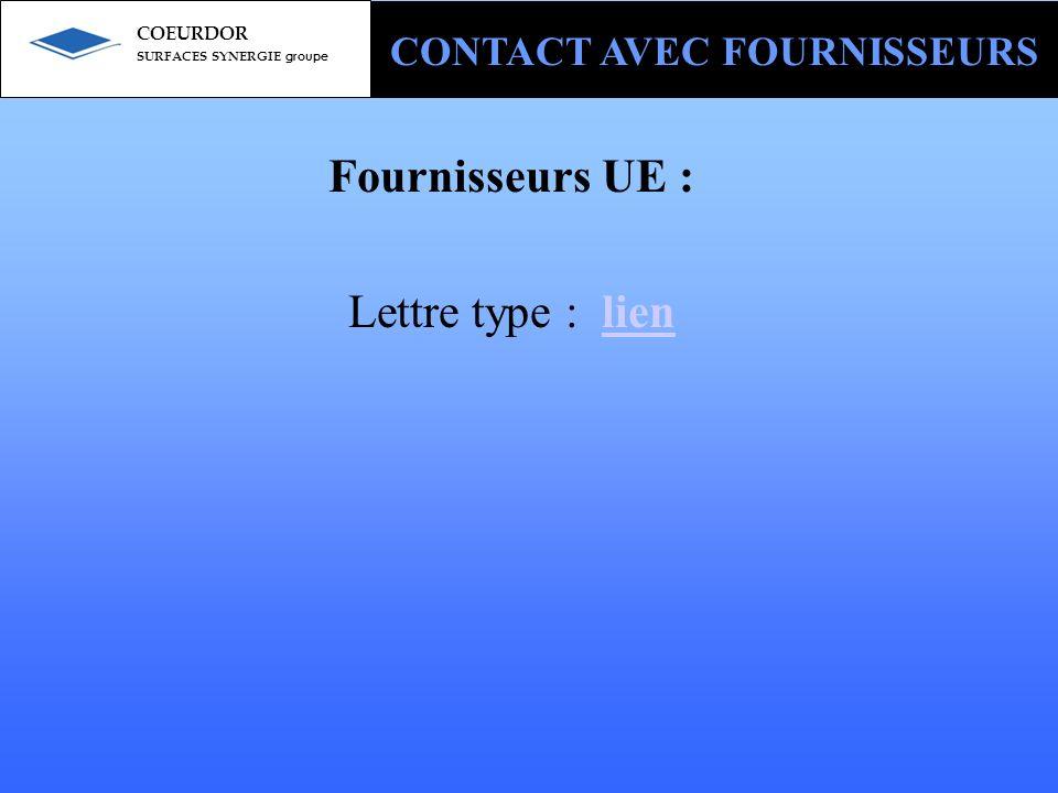 Fournisseurs UE : Lettre type : lien