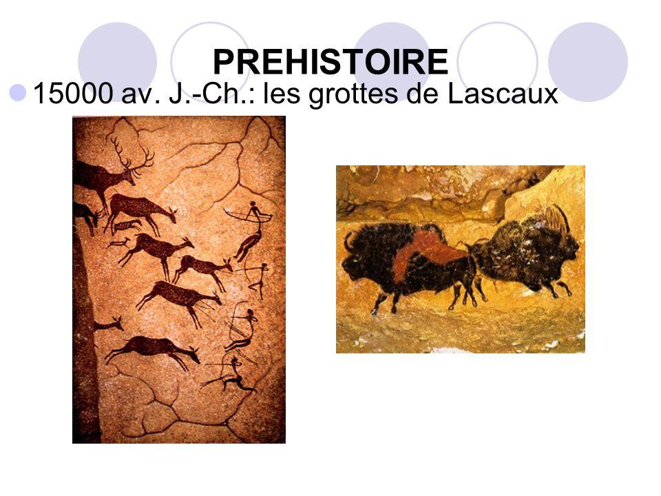 PREHISTOIRE 15000 av. J.-Ch.: les grottes de Lascaux