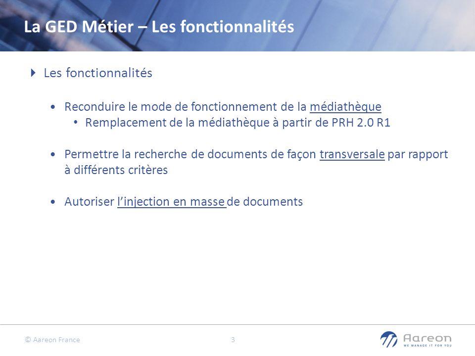 La GED Métier – Les fonctionnalités