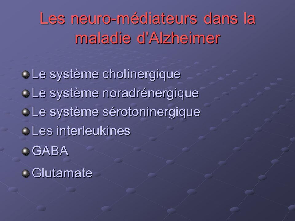 Les neuro-médiateurs dans la maladie d Alzheimer