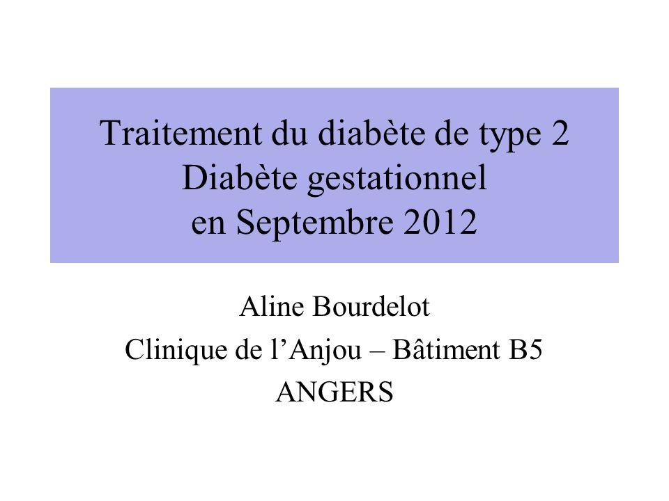 Traitement du diabète de type 2 Diabète gestationnel en Septembre 2012