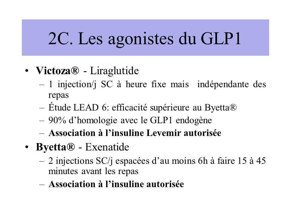 2C. Les agonistes du GLP1 Victoza® - Liraglutide Byetta® - Exenatide