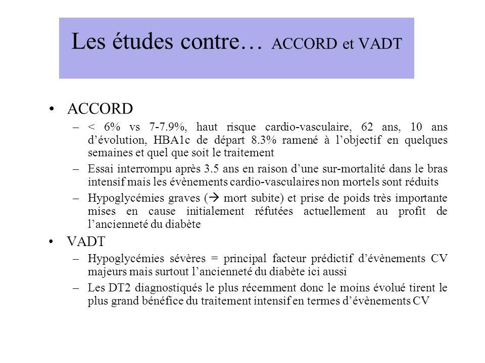 Les études contre… ACCORD et VADT