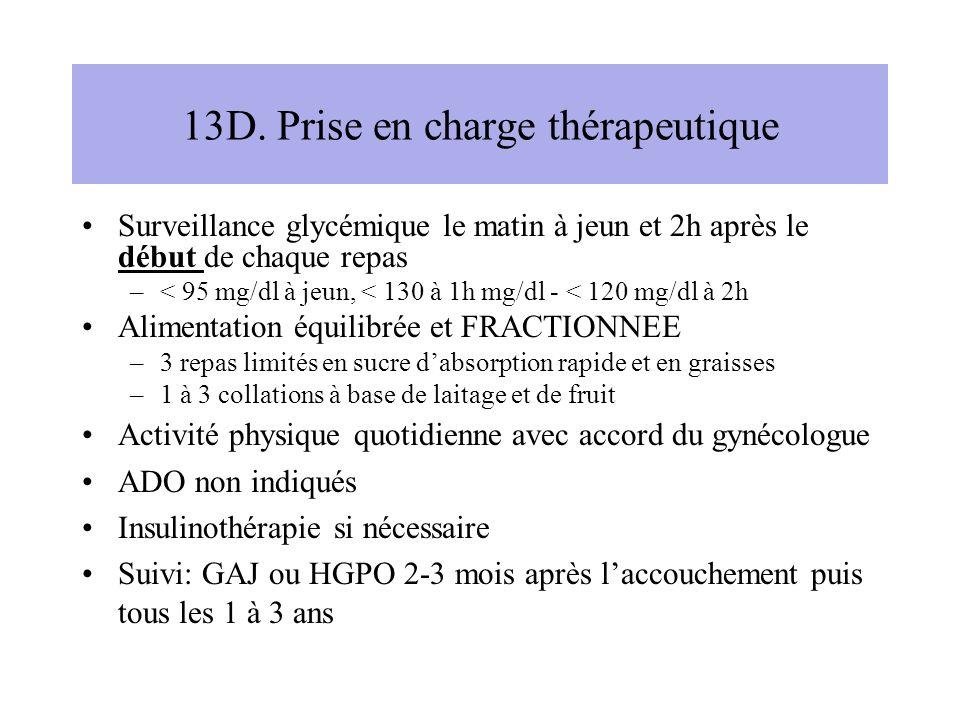 13D. Prise en charge thérapeutique