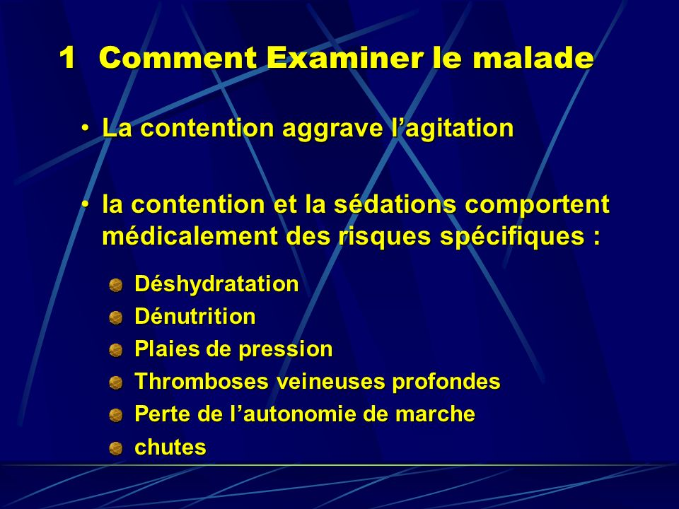1 Comment Examiner le malade