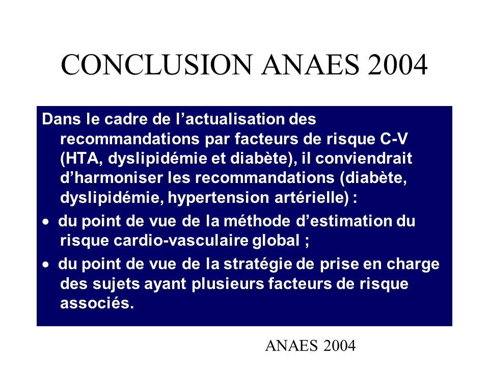 CONCLUSION ANAES 2004