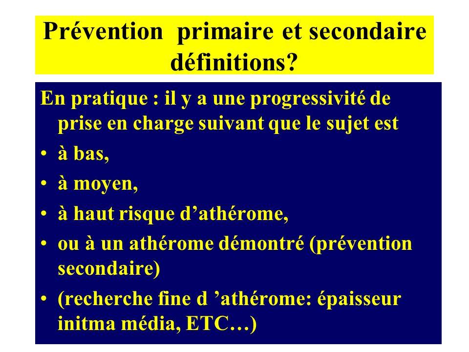 Prévention primaire et secondaire définitions