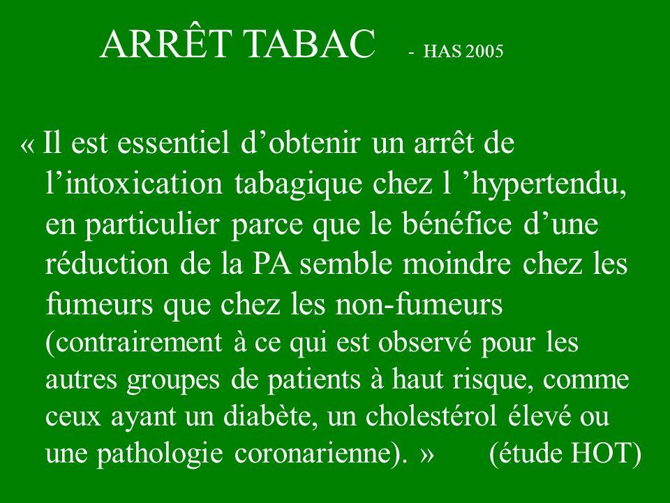 ARRÊT TABAC - HAS 2005