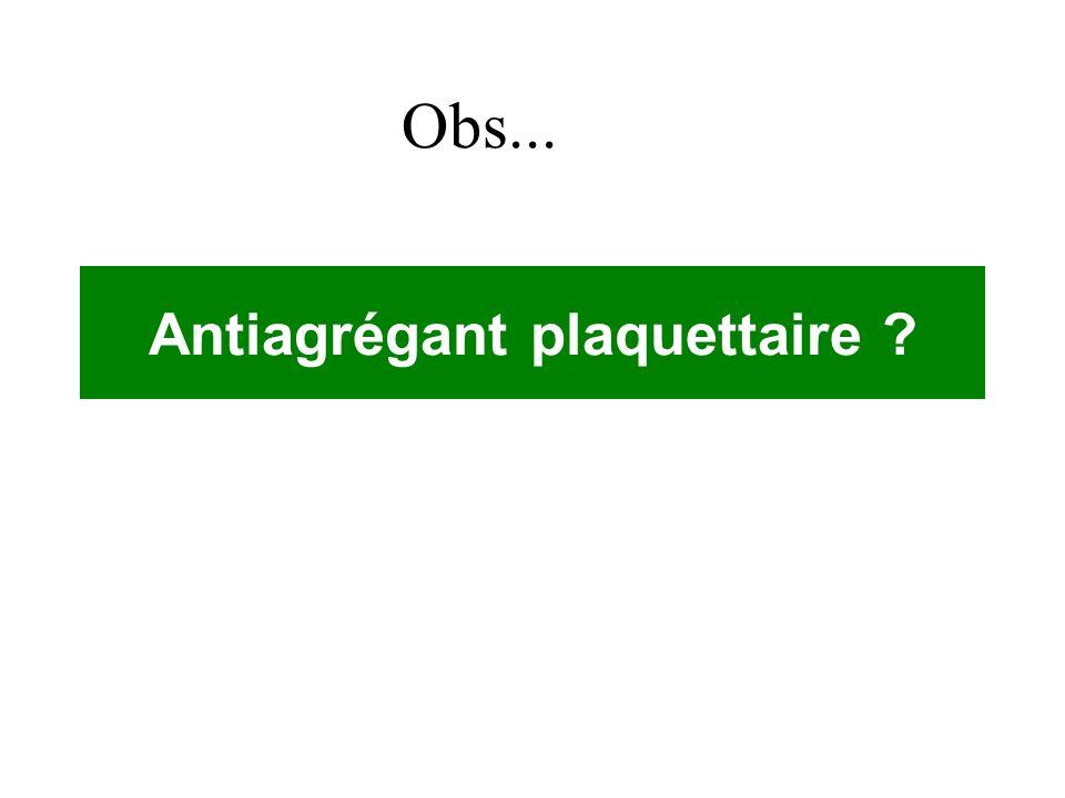 Antiagrégant plaquettaire