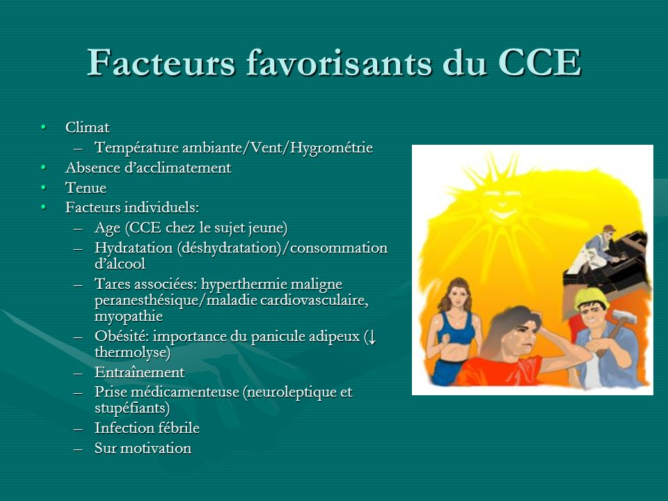 Facteurs favorisants du CCE