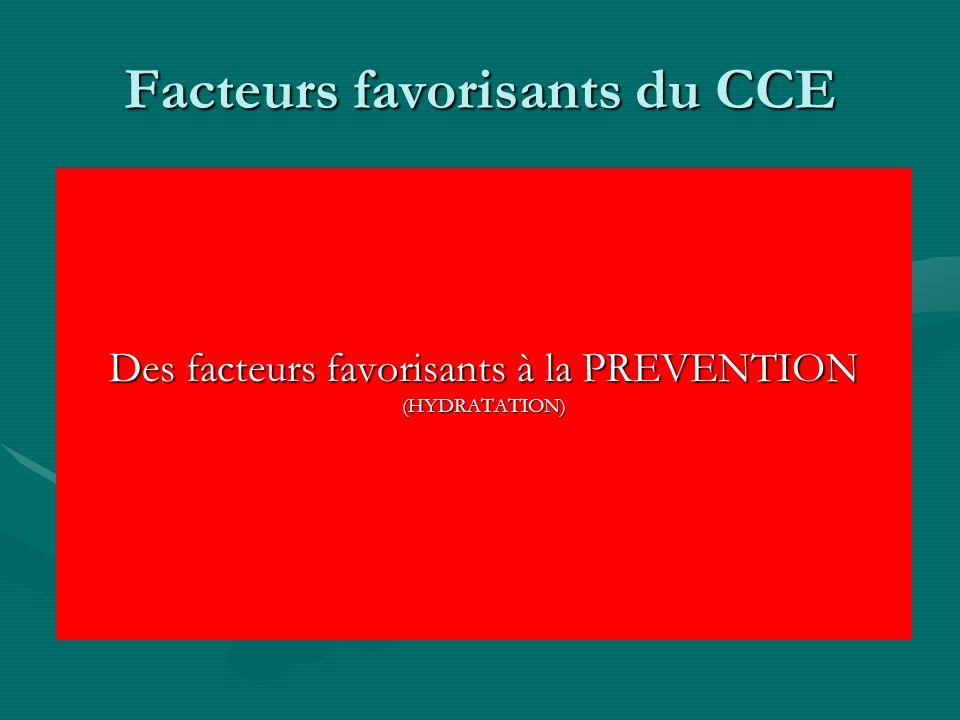 Facteurs favorisants du CCE