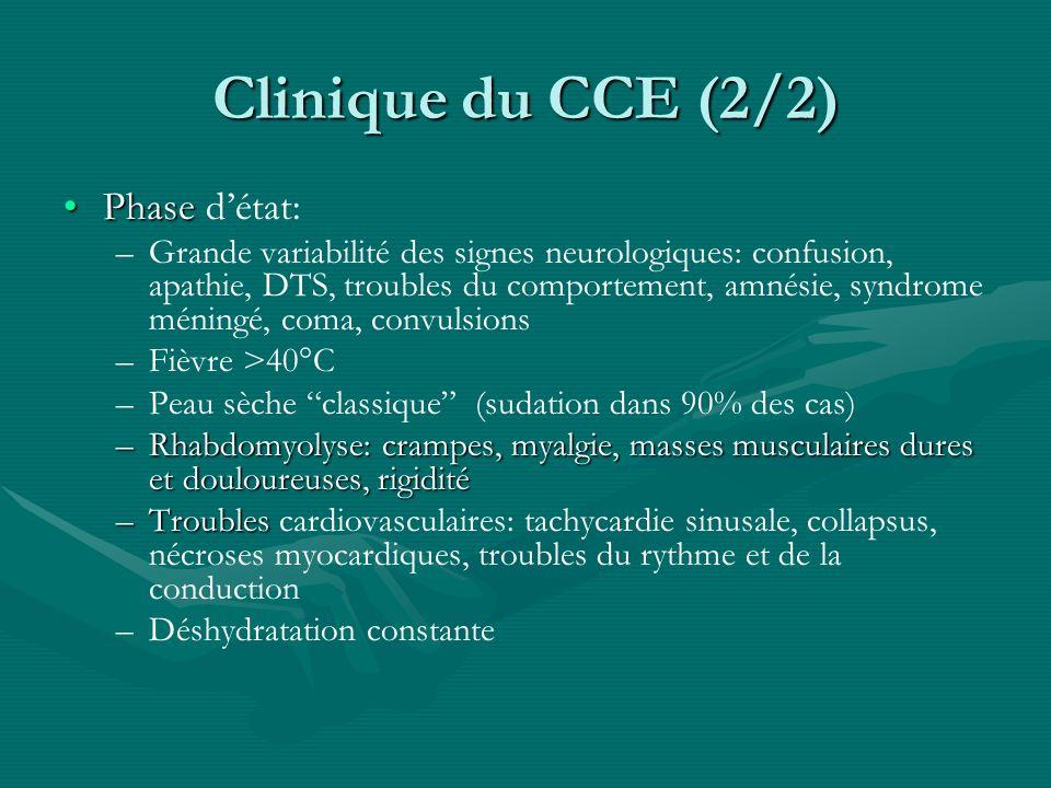 Clinique du CCE (2/2) Phase d'état: