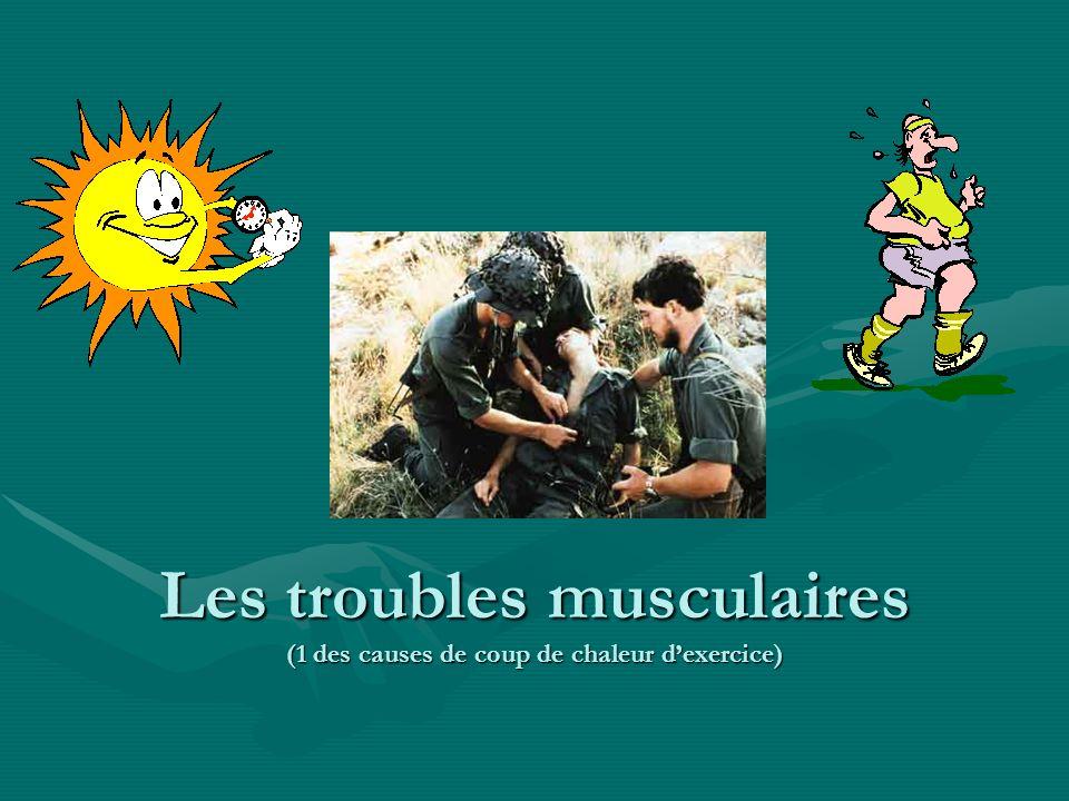 Les troubles musculaires (1 des causes de coup de chaleur d'exercice)