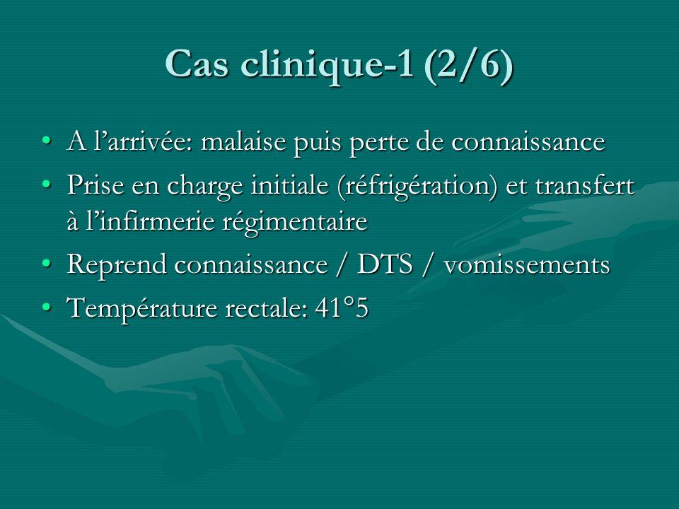 Cas clinique-1 (2/6) A l'arrivée: malaise puis perte de connaissance