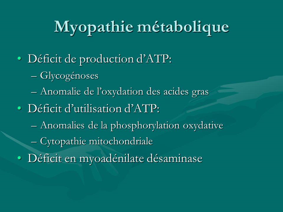 Myopathie métabolique