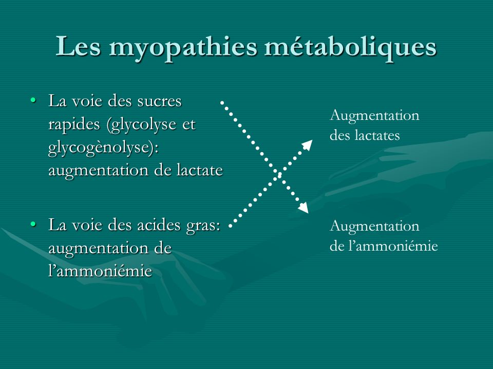 Les myopathies métaboliques