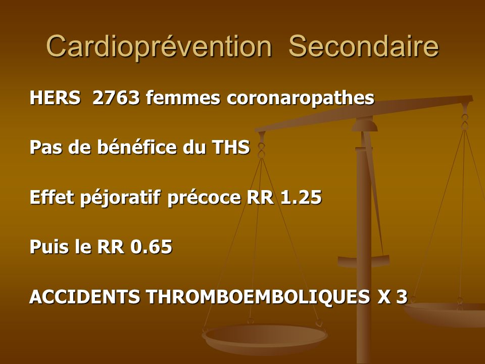 Cardioprévention Secondaire