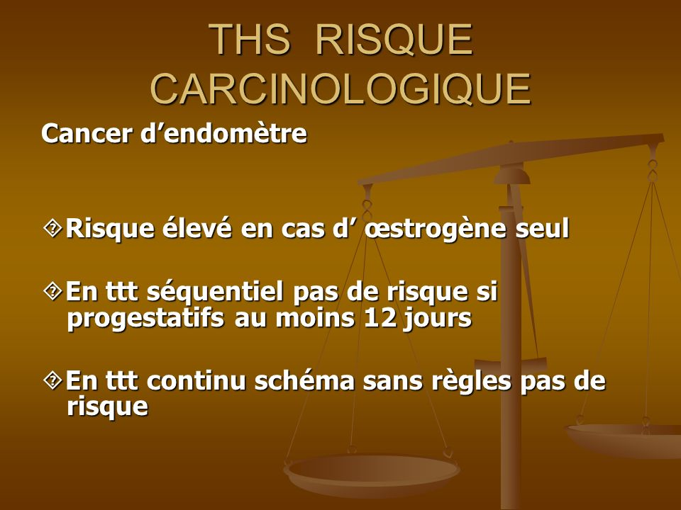 THS RISQUE CARCINOLOGIQUE