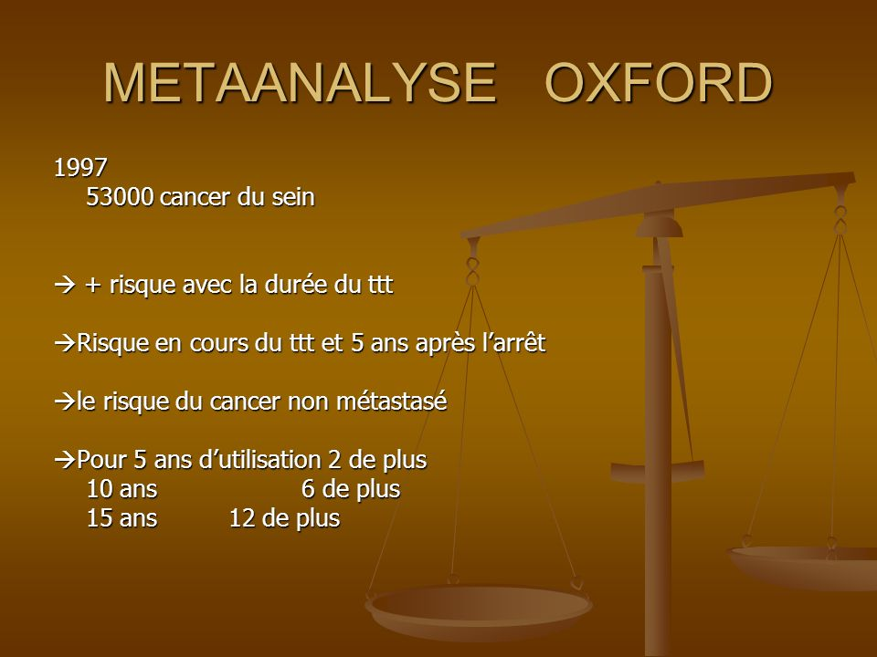 METAANALYSE OXFORD 1997 53000 cancer du sein