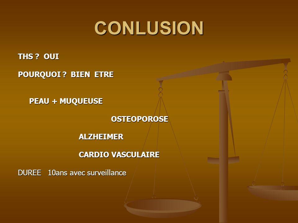 CONLUSION THS OUI POURQUOI BIEN ETRE PEAU + MUQUEUSE OSTEOPOROSE