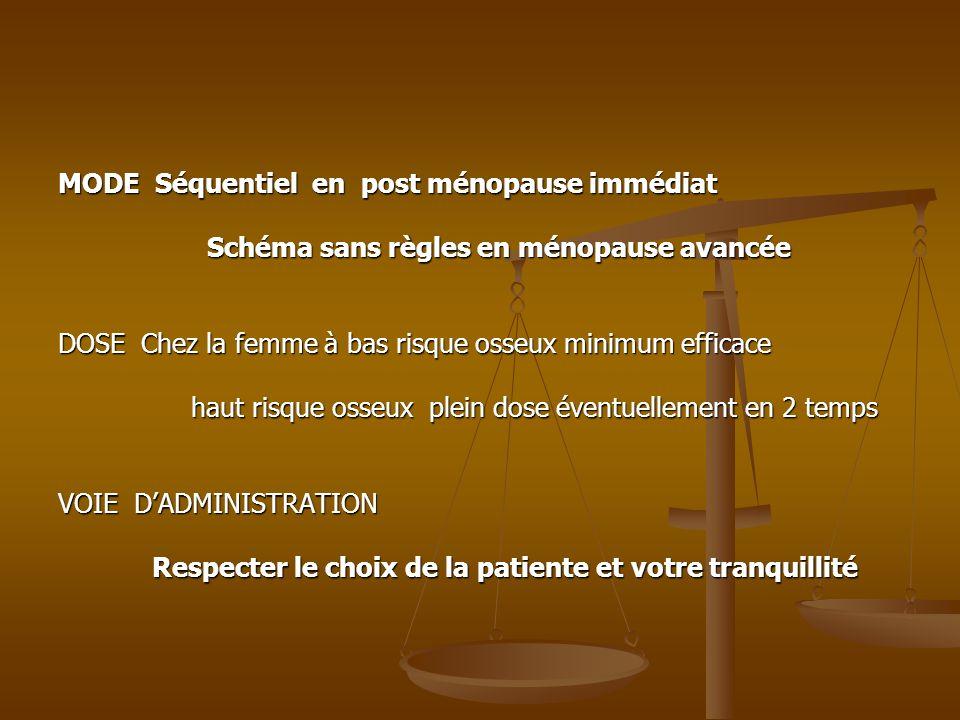 MODE Séquentiel en post ménopause immédiat
