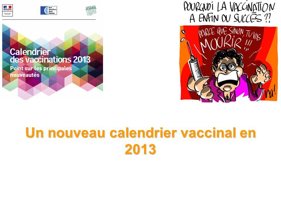 Un nouveau calendrier vaccinal en 2013