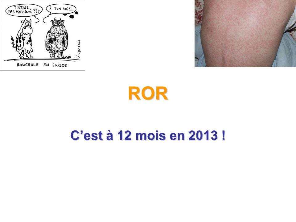 ROR C'est à 12 mois en 2013 !