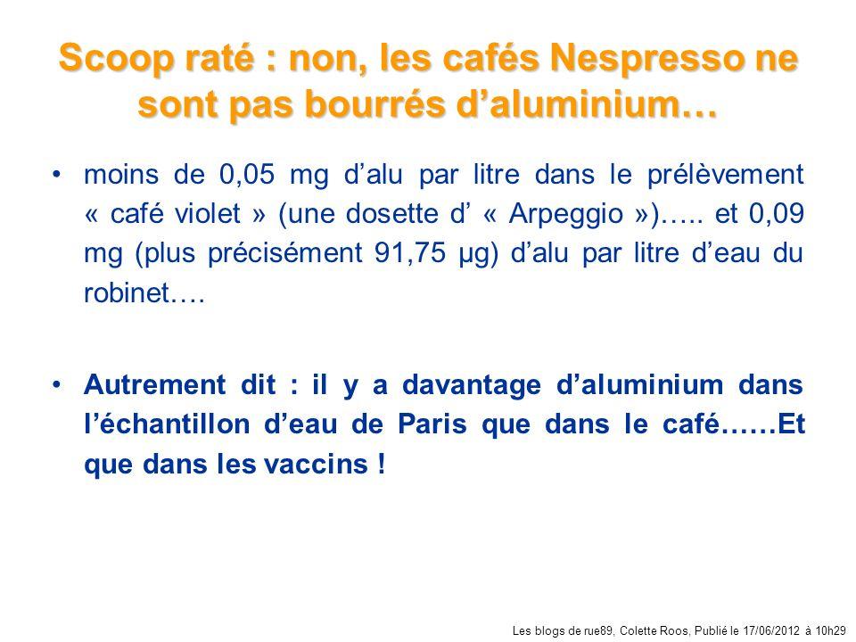 Scoop raté : non, les cafés Nespresso ne sont pas bourrés d'aluminium…