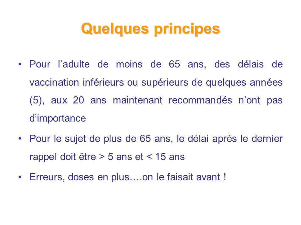 Quelques principes