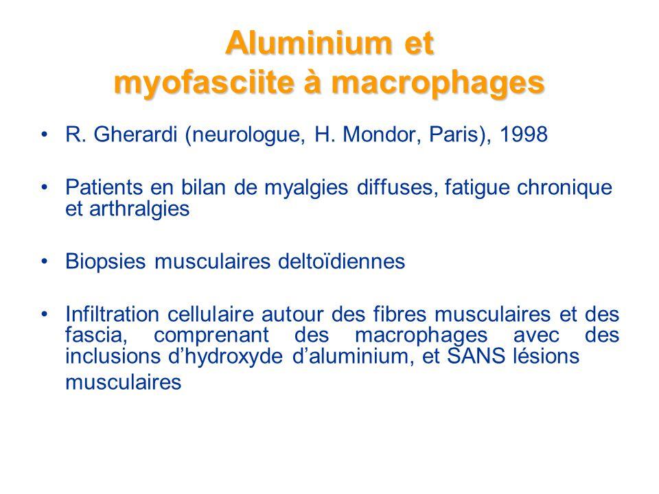 Aluminium et myofasciite à macrophages