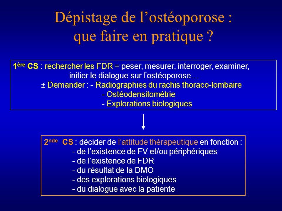 Dépistage de l'ostéoporose : que faire en pratique