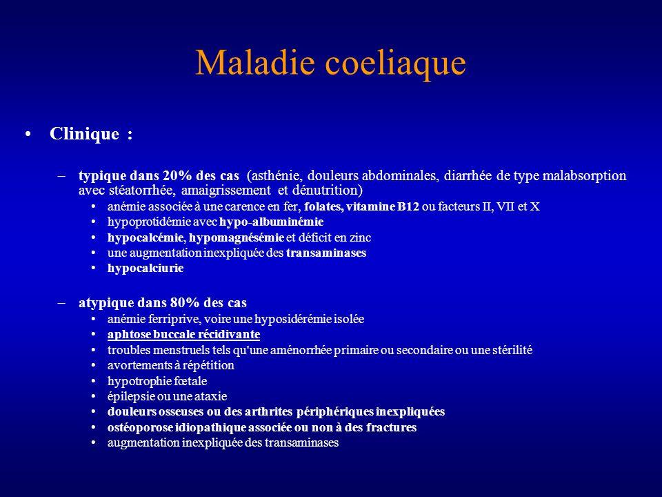 Maladie coeliaque Clinique :