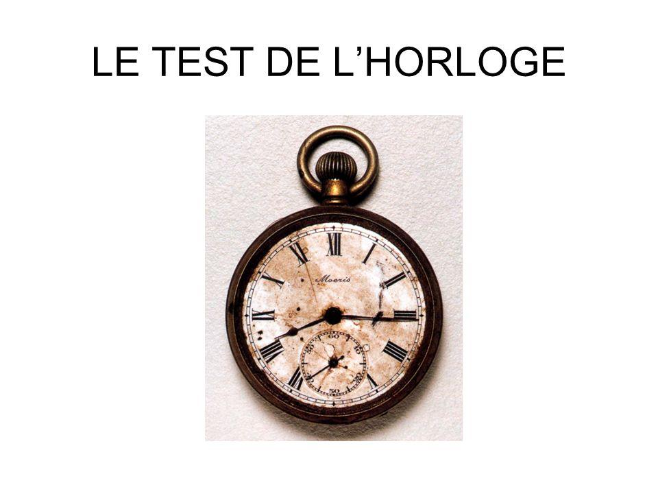 LE TEST DE L'HORLOGE