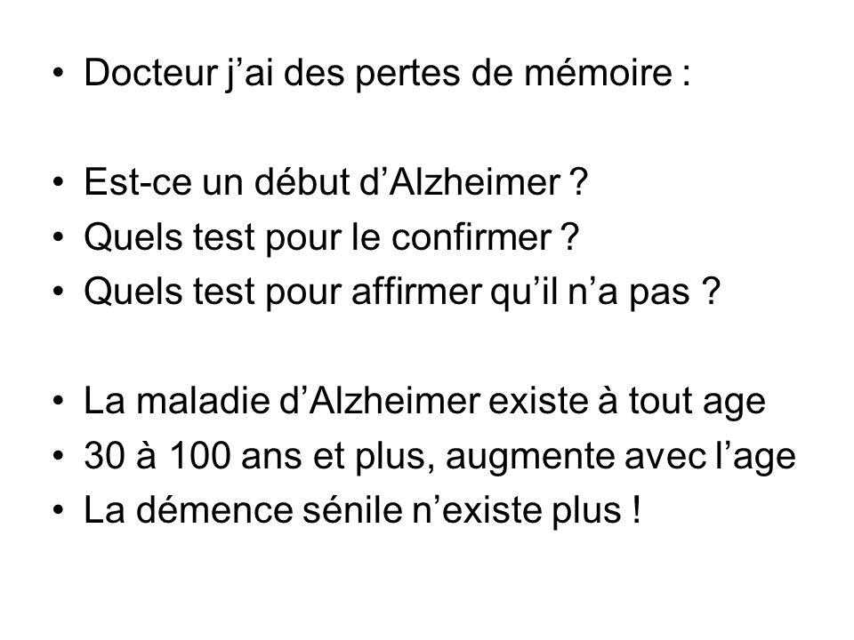 Docteur j'ai des pertes de mémoire :