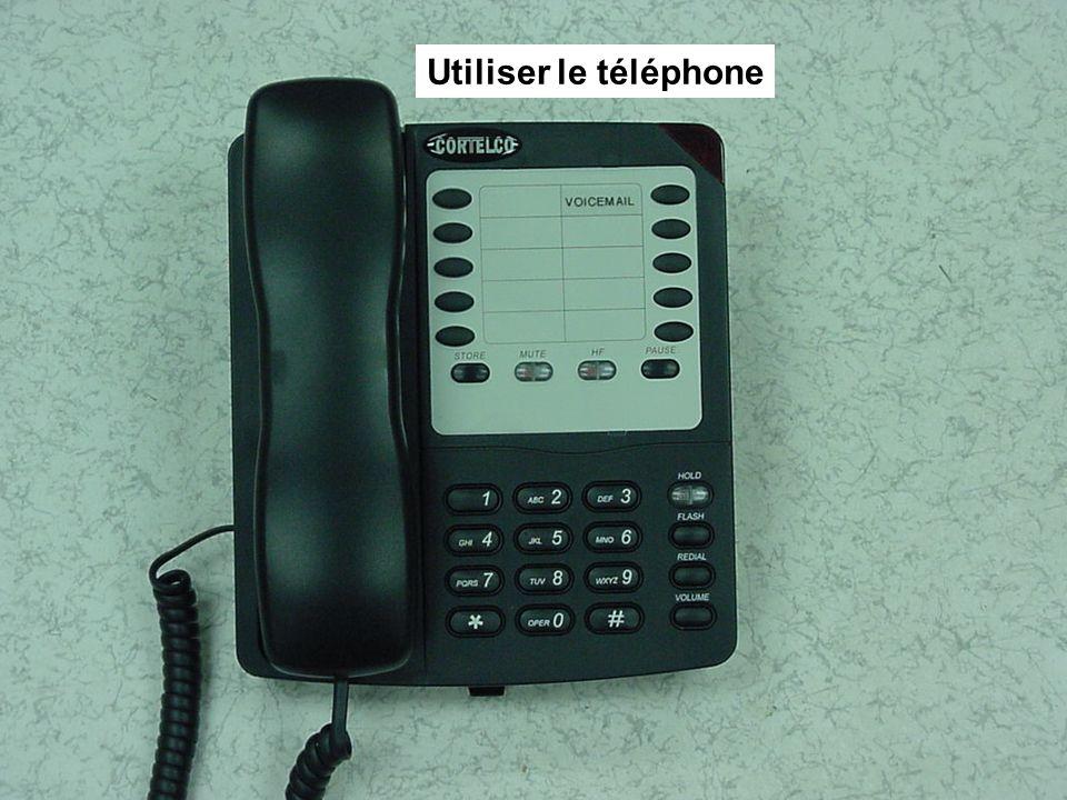 Utiliser le téléphone