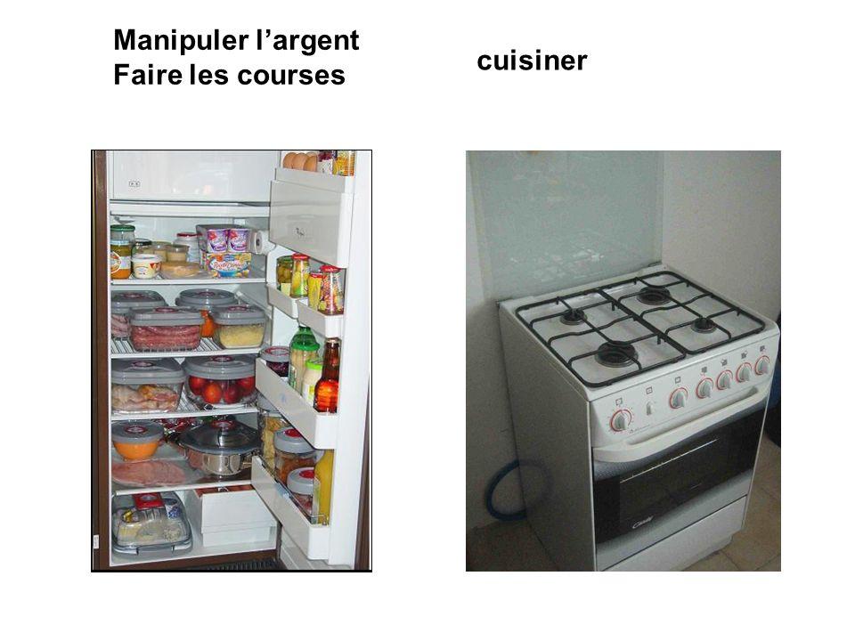 Manipuler l'argent Faire les courses cuisiner