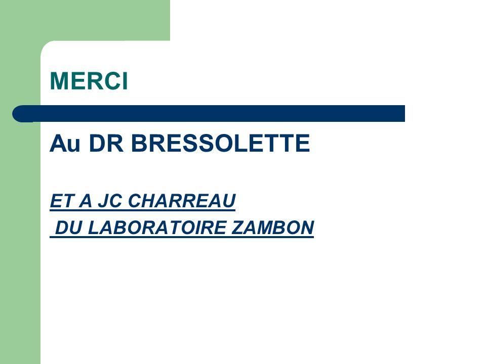 MERCI Au DR BRESSOLETTE ET A JC CHARREAU DU LABORATOIRE ZAMBON