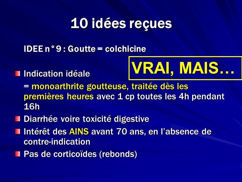 VRAI, MAIS… 10 idées reçues IDEE n°9 : Goutte = colchicine