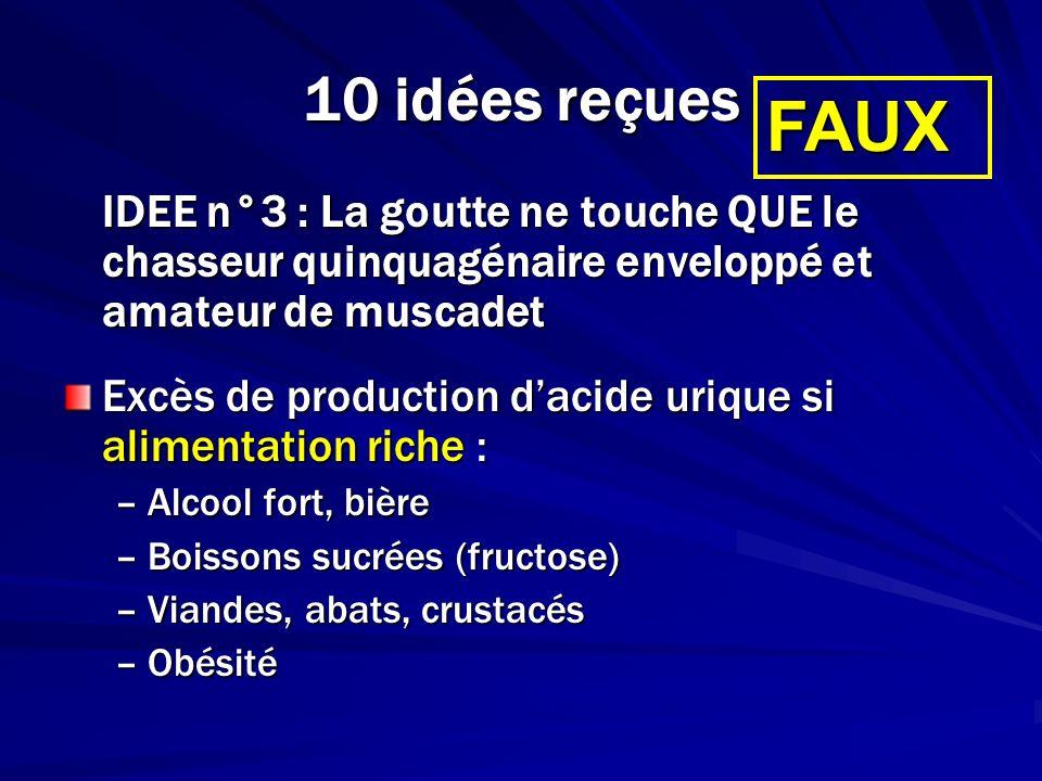 10 idées reçues FAUX. IDEE n°3 : La goutte ne touche QUE le chasseur quinquagénaire enveloppé et amateur de muscadet.