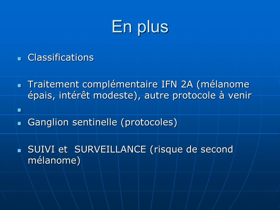 En plus Classifications