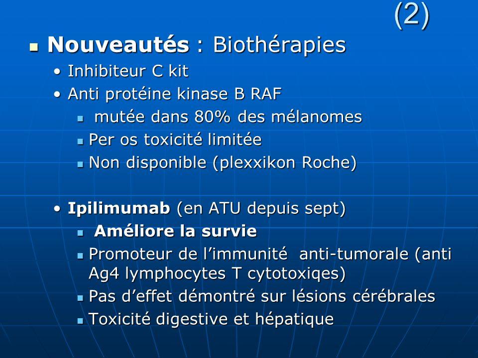 (2) Nouveautés : Biothérapies Inhibiteur C kit
