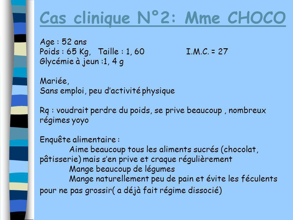 Cas clinique N°2: Mme CHOCO